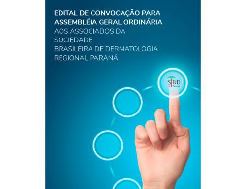 Edital de Convocação para Assembléia Geral Ordinária aos Associados da SBD-PR