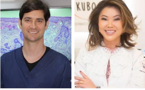 Dr. Felipe Cerci e Dra. Elisa Kubo, dermatologistas paranaenses que estão entre os autores do importante artigo sobre a cirurgia micrográfica de Mohs